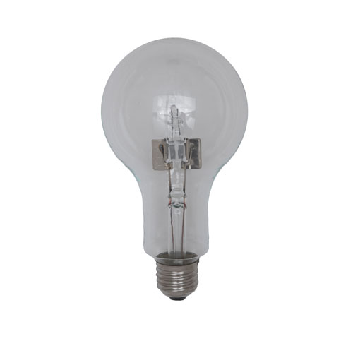 230V 105W E27 90x166 clear with double bulb